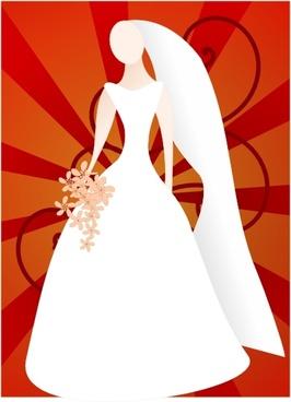 Joelm Red Bride With Sunburst clip art