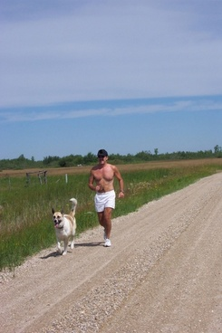 jogger and best friend dog