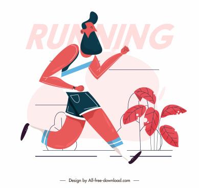 jogger icon cartoon character sketch