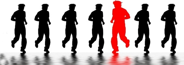 jogging runners silhouettes