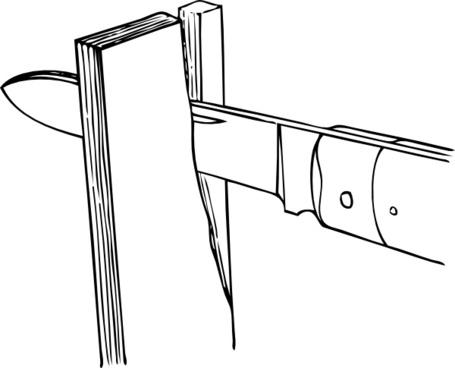 Johnny Automatic Splitting Partially Across The Grain clip art