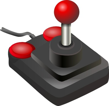 Joystick Black Red clip art