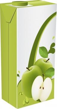 juice advertising banner box icon 3d closeup design