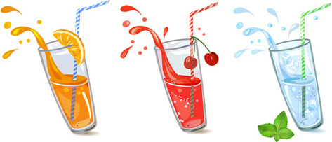 juice splashes design vector