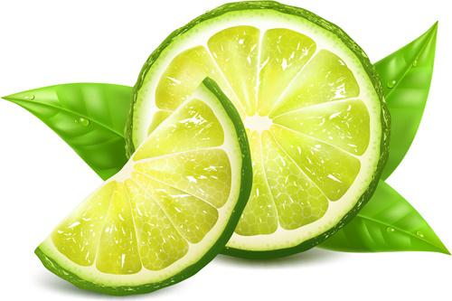 juicy lemon creative vector