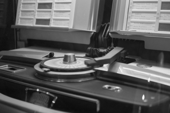 jukebox in black and white