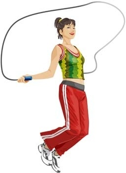 jump rope sport vector 1