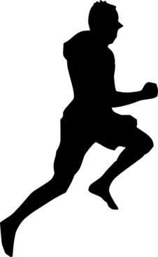 Jumping Dancing Silhouette Running clip art