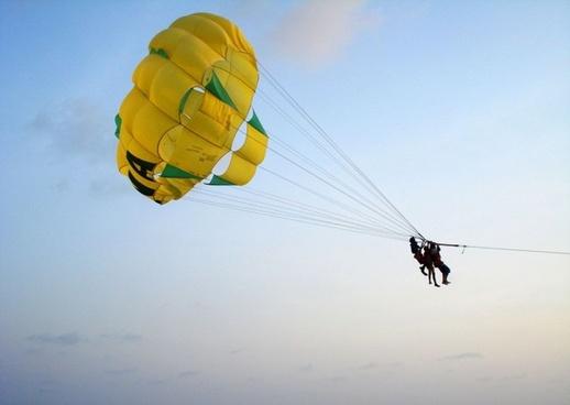jumping man parachute