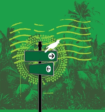 jungle mail vector