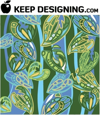 Jungle Wallpaper Pattern Vector
