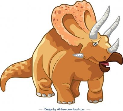 jurassic background triceraptor dinosaur icon colored cartoon design