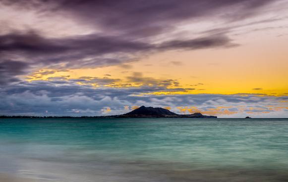kailua beach sunset