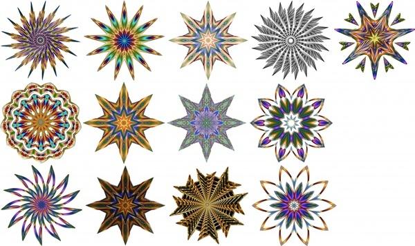 kaleidoscope pattern illustration with various circle shapes
