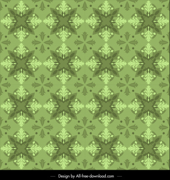 kaleidoscope pattern template green repeating symmetrical monochrome
