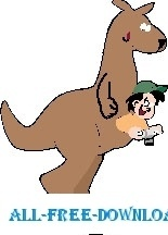 Kangaroo with Boy
