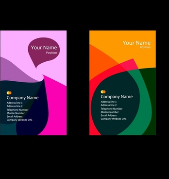business card templates colorful flat abstract modern decor