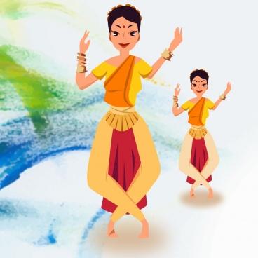 kathak dance vector design