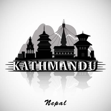 kathmandu city background vector