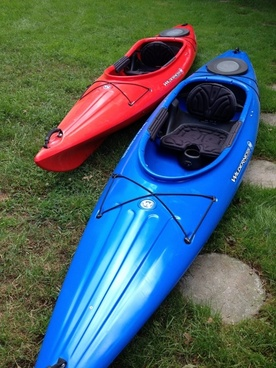 kayak boat red