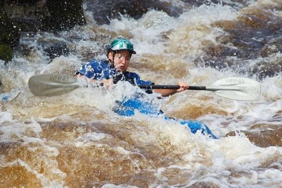 kayaking in rapids