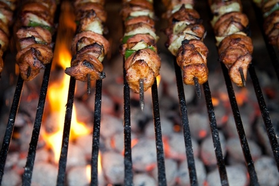 kebab on skewers