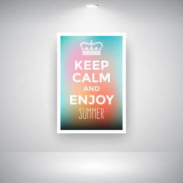keep calm and enjoy summer on wall