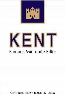 Kent cigarettes pack