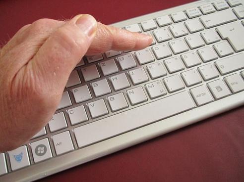 keyboard computer hand