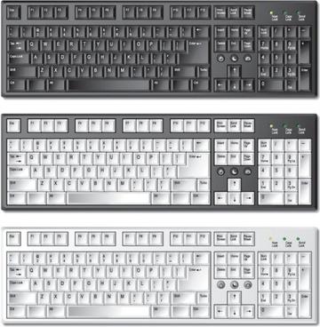 keyboard template 01 vector