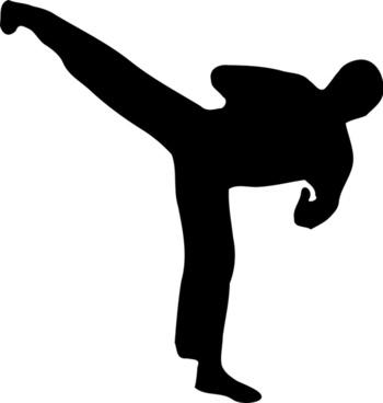 Kickboxer silhouette