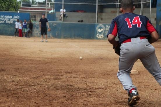 kid fielding ground ball
