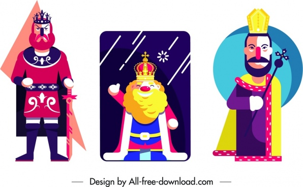 king card sets classical colorful design