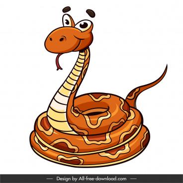 king cobra icon handdrawn cartoon sketch
