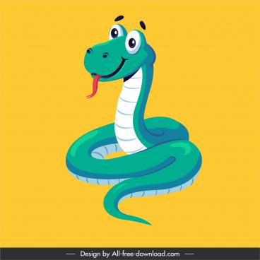 king snake icon cute cartoon sketch