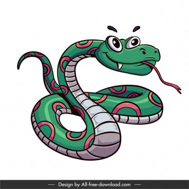 king snake icon funny cartoon sketch