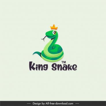 king snake logotype colored cartoon sketch
