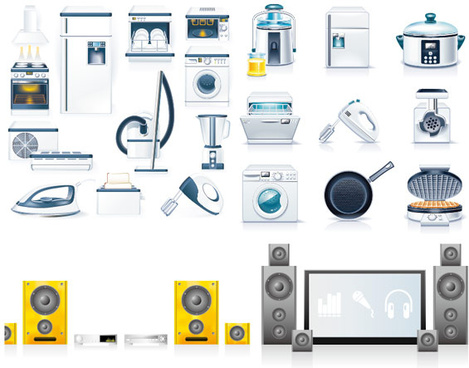 kitchen appliances icon vector