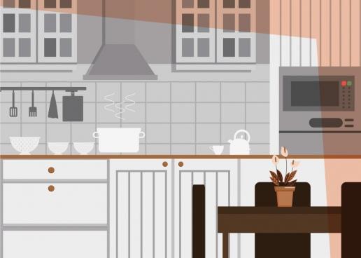 kitchen decor background modern design