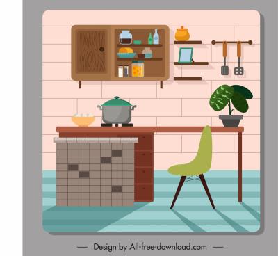 kitchen decor template colored classical design