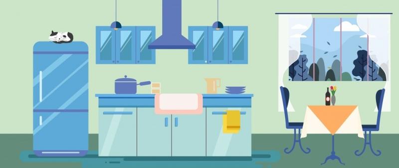 kitchen design colored modern decor