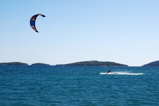 kite surfer at adriatic sea