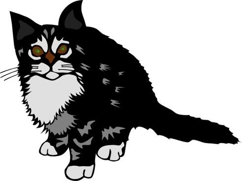Kitten Black clip art