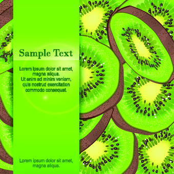 kiwi fruit background vector graphic
