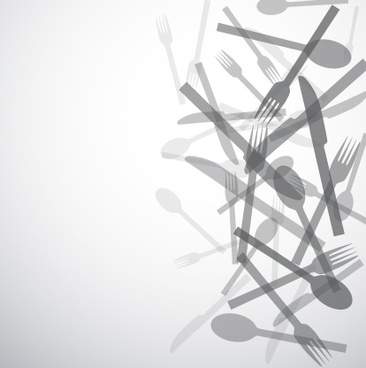 knife and fork vector background graphics