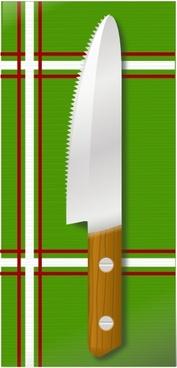 Knife On Table clip art