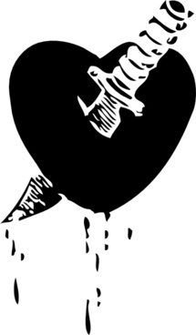 Knife Through The Heart clip art