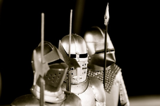 knight armor weapons