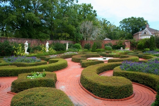 knot garden formal garden flowers