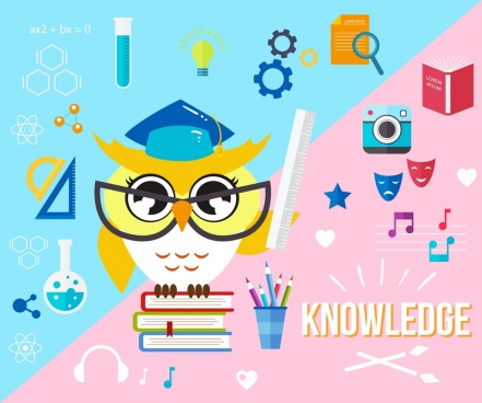 knowledge conceptual background education design elements decor